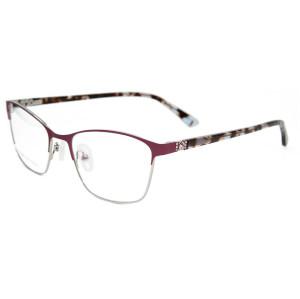 Venta al por mayor último modelo vogue diseño gafas de metal de la venta caliente Marco de gafas para mujeres damas