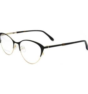 حار بيع أحدث طراز أزياء النظارات المعدنية نصف إطار القط العين النظارات البصرية إطارات للسيدات