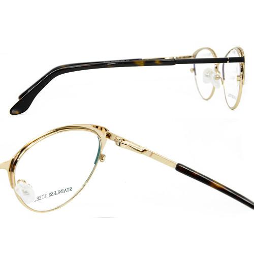 Marco vendedor caliente de los vidrios ópticos de los vidrios del ojo del gato del marco de la última moda del último modelo para las señoras