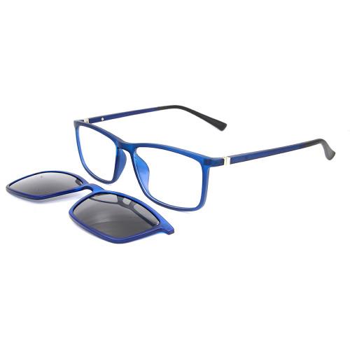 Clip magnético al por mayor del marco óptico del cuadrado TR90 del diseño del nuevo modelo en las gafas de sol con la lente polarizada