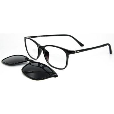 أحدث طراز تصميم الأزياء TR90 إطار كليب على النظارات الشمسية الإطار مع عدسة الاستقطاب للبالغين