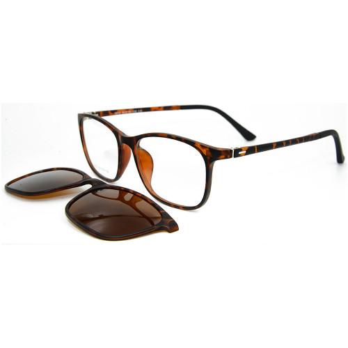 El último modelo de diseño de moda TR90 Frame Clip magnético en gafas de sol con lentes polarizadas para adultos