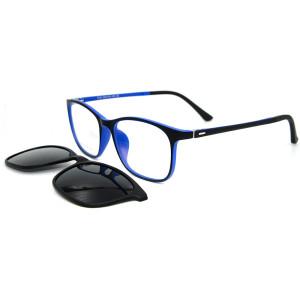 Son model Moda tasarım TR90 Çerçeve Manyetik Klip Yetişkinler için Polarize Lens ile Güneş Gözlüğü Çerçeve Üzerinde