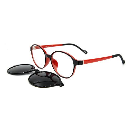 Forme el clip magnético del marco óptico oval TR90 en las gafas de sol con la lente polarizada para los hombres mujeres