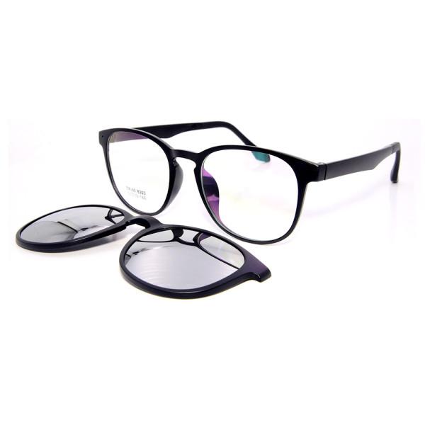 Wholesale Vogue design driving sunglasses TR90 Frame Magnetic Clip On Sunglasses with Polarized Lens men women