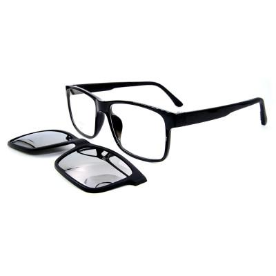 Clip magnético del marco óptico popular de las gafas de sol TR90 de los adultos en las gafas de sol con la lente polarizada