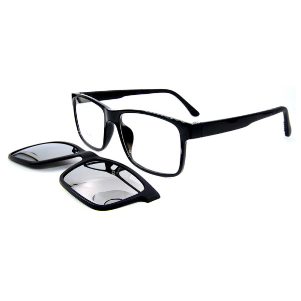 Popular portable adults sunglasses TR90 Optical Frame Magnetic Clip On Sunglasses with Polarized Lens