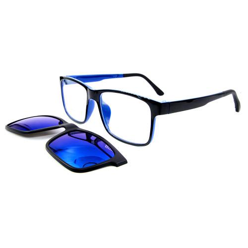 Popüler taşınabilir yetişkinler güneş gözlüğü TR90 Polarize Lens ile Güneş Gözlüğü Üzerinde Optik Çerçeve Manyetik Klip