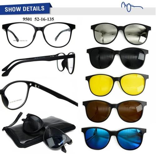 Las gafas de sol de alta calidad promocionan el clip magnético del marco TR90 en las gafas de sol con la lente polarizada
