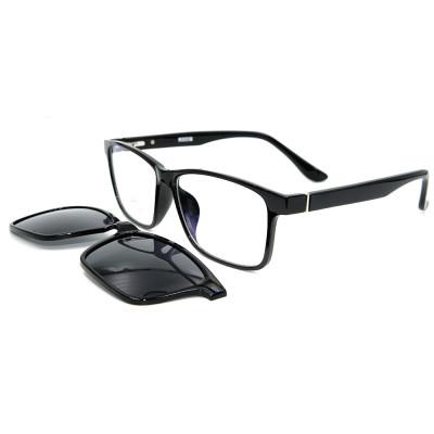Clip magnético del marco durable de encargo de las gafas de sol de Ultem de la fábrica en las gafas de sol con la lente polarizada