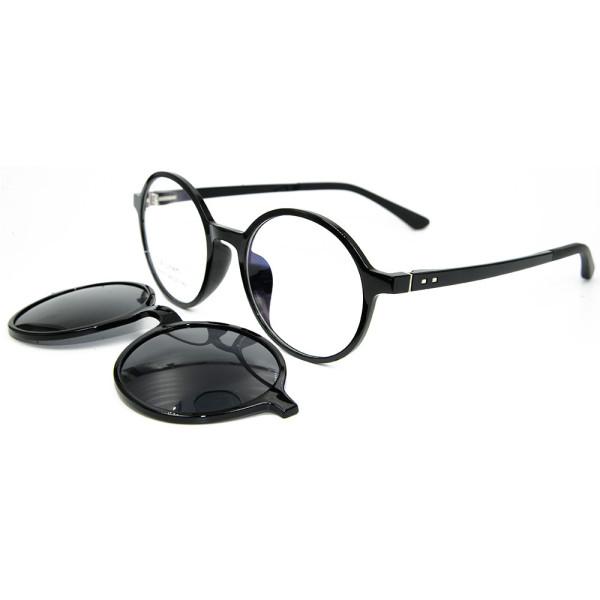 European Durable high End Ultem Sunglasses Frame Magnetic Clip On Sunglasses with Polarized Lens