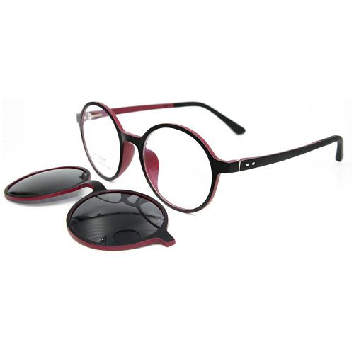 Clip magnético del marco de las gafas de sol Ultem de gama alta duradera europea en gafas de sol con lente polarizada