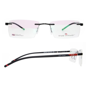 Yeni Vogue tasarım dayanıklı kalite çerçevesiz gözlük erkekler için metal kare optik gözlük çerçeveleri
