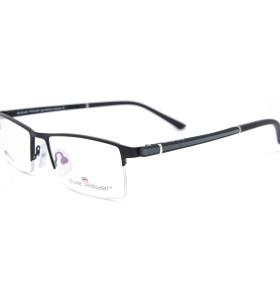 أحدث الأزياء نمط جديد مبيعا halfrim النظارات المعدنية مربع النظارات البصرية إطارات للرجال