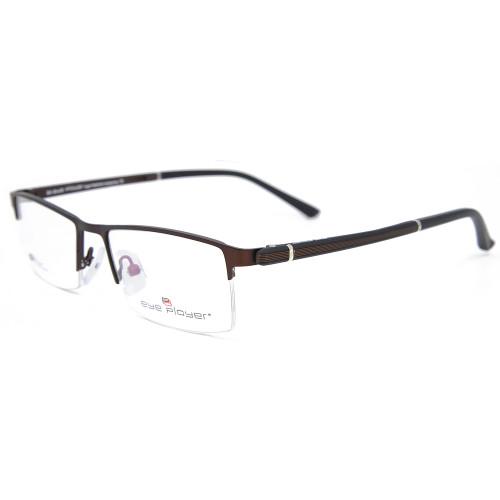 Marcos de los vidrios ópticos del cuadrado del metal de las gafas del halfrim de las últimas ventas del nuevo estilo de la moda para los hombres