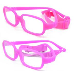 Fábrica al por mayor de encargo suave niños anteojos 14 colores TR90 Flexible bebé niños marco óptico