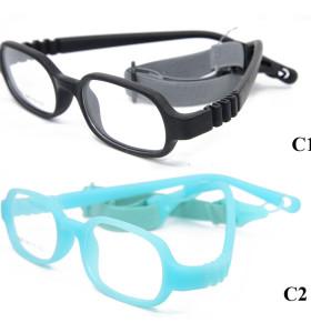 Venta al por mayor venta caliente niños marco de gafas 14 colorido TR90 Flexible bebé niños marco óptico