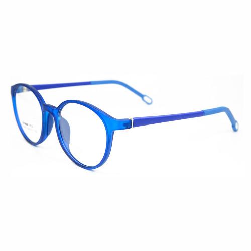 Nueva costumbre TR90 Moda colorida ronda marco de gafas niños flexibles marcos de lentes ópticas