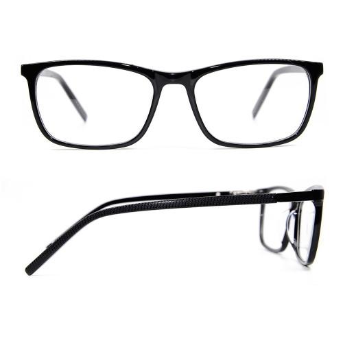 Fábrica personalizada nuevo vogue diseño durable acetato gafas metal gafas marcos ópticos para adultos