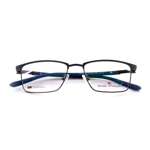 Marcos de los vidrios ópticos del cuadrado del metal de las gafas de la primavera de la venta superior de encargo superior de la última fábrica para los hombres