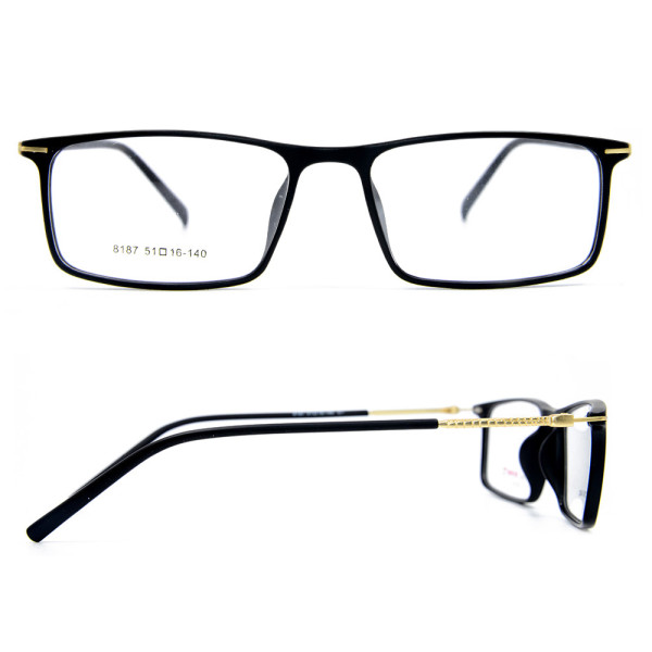 Latest  Fashion Design Adults metal eyewear high quality Ultra Light TR90 optical glasses frames for gentlemen