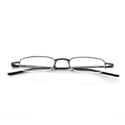 Best quality Hot selling Classical Folding Metal Optical Reading glasses with case for men women