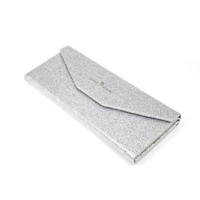 Venta al por mayor Nuevo diseño de moda Fácil de llevar y caja de plata plegable de los vidrios del ojo de la cartulina