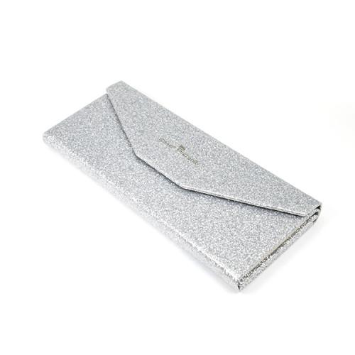 Toptan Yeni Moda tasarımı taşıması kolay ve Katlanır Gümüş Karton Göz Gözlük Kılıfı
