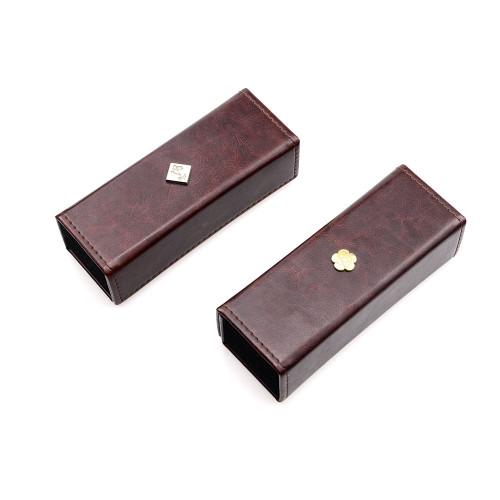 Caja al por mayor de alta calidad fácil de llevar y plegable de los vidrios de los ojos de la PU para los vidrios