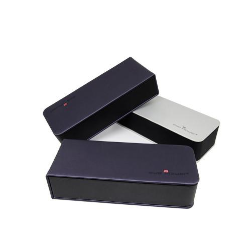 Caja de encargo plegable de encargo de la caja de vidrios de Vogue del diseño de la PU de la venta al por mayor 2019