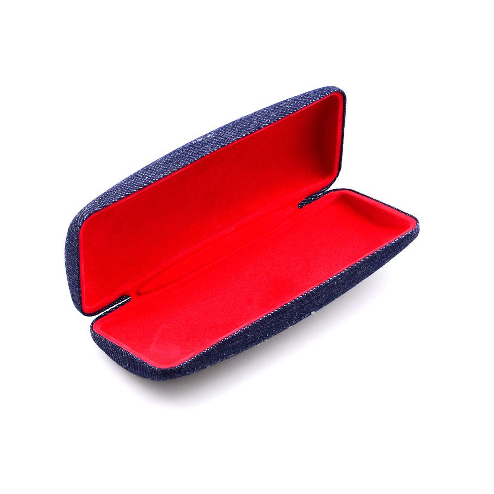 New style Factory Custom quality fashion Design Metal denim Eye optical Glasses Case Box