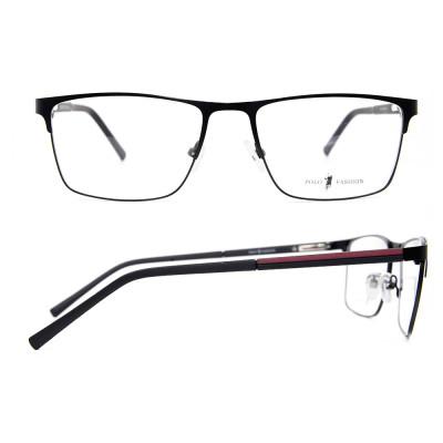 أحدث طراز الأزياء أعلى بيع دائم النظارات المعدنية مربع النظارات البصرية إطارات للرجال