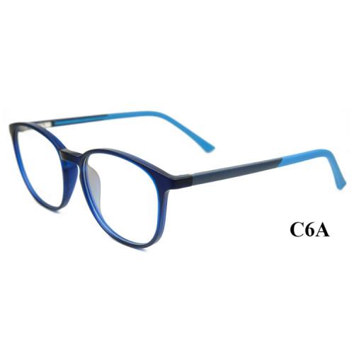 El último estilo de moda para adultos, gafas redondas y lentes ópticas Ultra Light TR90 para marcos de anteojos para hombres