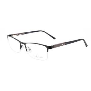 Los últimos marcos de los vidrios ópticos del halfrim del metal de las gafas flexibles de los hombres de la primavera de la última venta caliente de encargo