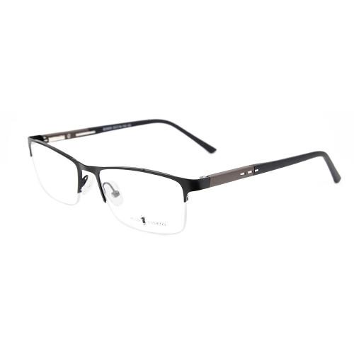 Son özel sıcak satış dayanıklı esnek bahar erkekler gözlük metal halfrim optik gözlük çerçeveleri
