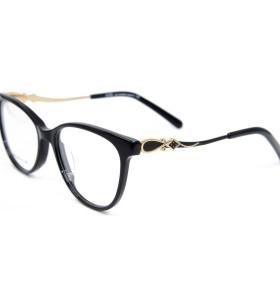 Marcos ópticos durables de encargo de las lentes del acetato de las gafas del diamante del metal de la última moda para las mujeres