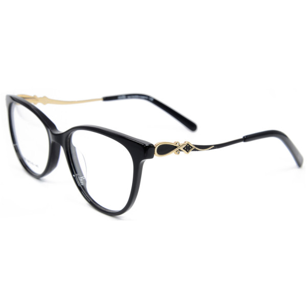 Latest fashion custom durable metal diamond eyewear acetate optical eyeglasses frames for women