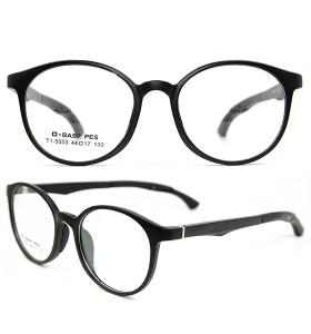 أعلى جودة النظارات TR الإطار الناعمة معبد قابل للتعديل جولة النظارات البصرية إطارات آمنة للأطفال