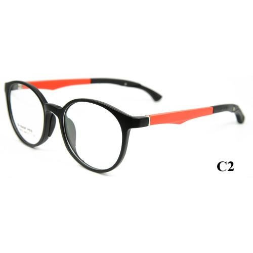 Marco de anteojos de alta calidad para gafas TR ajustables ópticamente redondos Marcos de lentes ópticos para niños