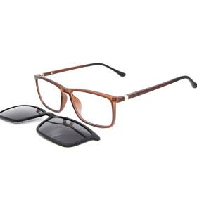 الجملة تصميم نموذج جديد ساحة TR90 الإطار البصري كليب المغناطيسي على النظارات الشمسية مع عدسة الاستقطاب
