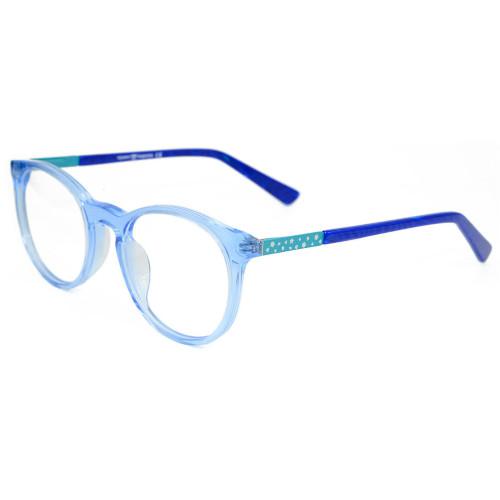 Último modelo de moda para niños Gafas de Acetato Redondo Marco de Lentes Ópticas para niños