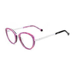 Nueva fábrica de china personalizada ronda gato anteojos acetato metal gafas marcos ópticos para niños