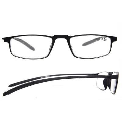 جودة النظارات الأزياء الناعمة بسيط أسلوب إطارات TR90 نظارات القراءة البصرية رقيقة للرجال والنساء
