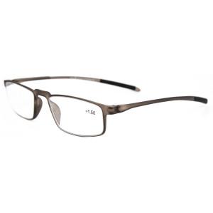 Yumuşak kalite basit moda stil gözlük çerçeveleri TR90 erkekler kadınlar için ince optik okuma gözlükleri