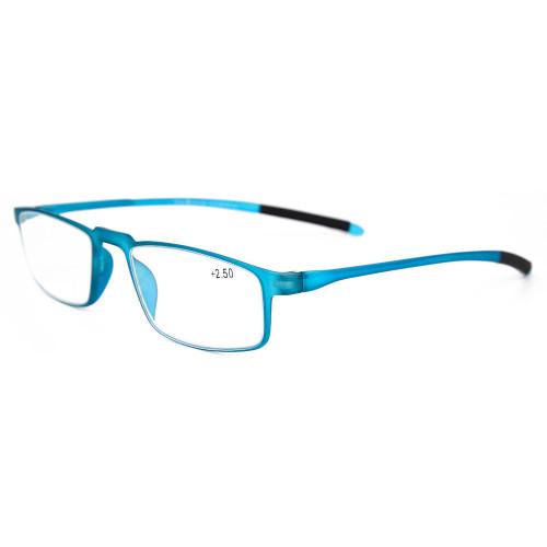 Las gafas de estilo de moda simple de calidad suave enmarcan las lentes de lectura óptica delgadas TR90 para hombres y mujeres