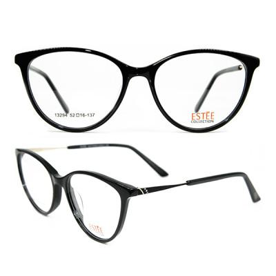 أحدث طراز حار بيع رواج القط النظارات رقيقة خلات المعادن الماس إطارات البصرية للنساء