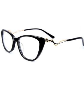الجملة زخرفة المعادن الماس أزياء النظارات إطارات النظارات خلات البصرية للنساء