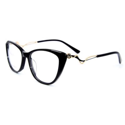 Wholesale metal diamond decoration fashion eyewear acetate optical Spectacles frames for women