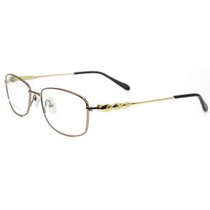 El nuevo diseño de moda de lujo de la fábrica enmarca las gafas ópticas del metal cómodo