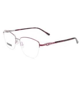 أحدث أعلى بيع نمط الأزهار النظارات إطار الماس إطار النظارات البصرية المعدنية للنساء